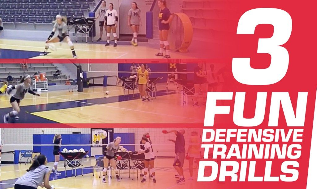 3 Fun Drills To Train Defenders The Art Of Coaching Volleyball Coaching Volleyball Volleyball Workouts Volleyball Drills
