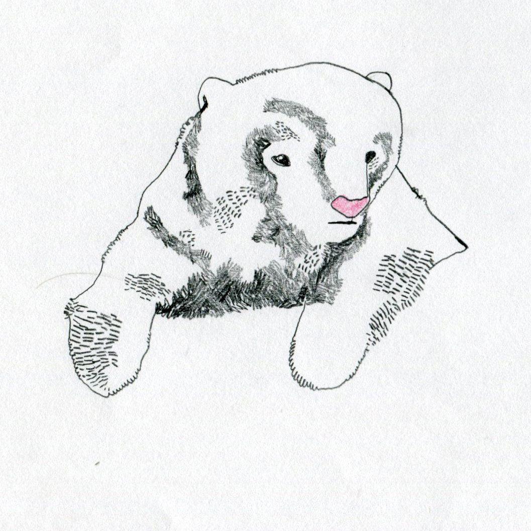 Baby Bear Original Illustration - Limited Edition of 10. $15.00, via Etsy.