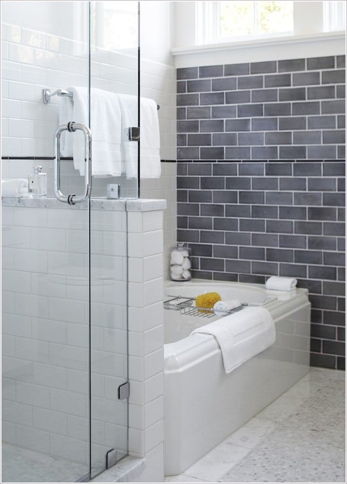 smoked gray glass tile bath google search - Bathroom Gray Subway Tile