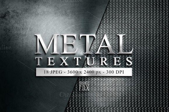 18 Metal Textures @creativework247