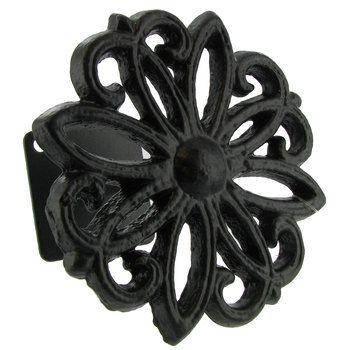 Black Flower Weave Metal Tieback Curtain Tie Backs Diy Hobby