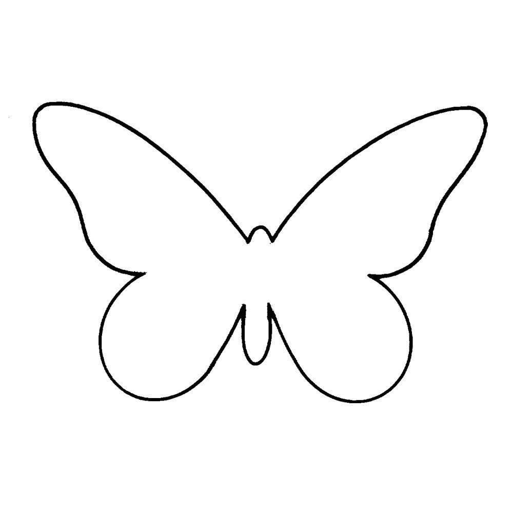 Free Printable Butterfly Template Plain Butterfly Templates Clipart Library Butterfly Template Butterfly Outline Butterfly Cutout [ 1000 x 1000 Pixel ]