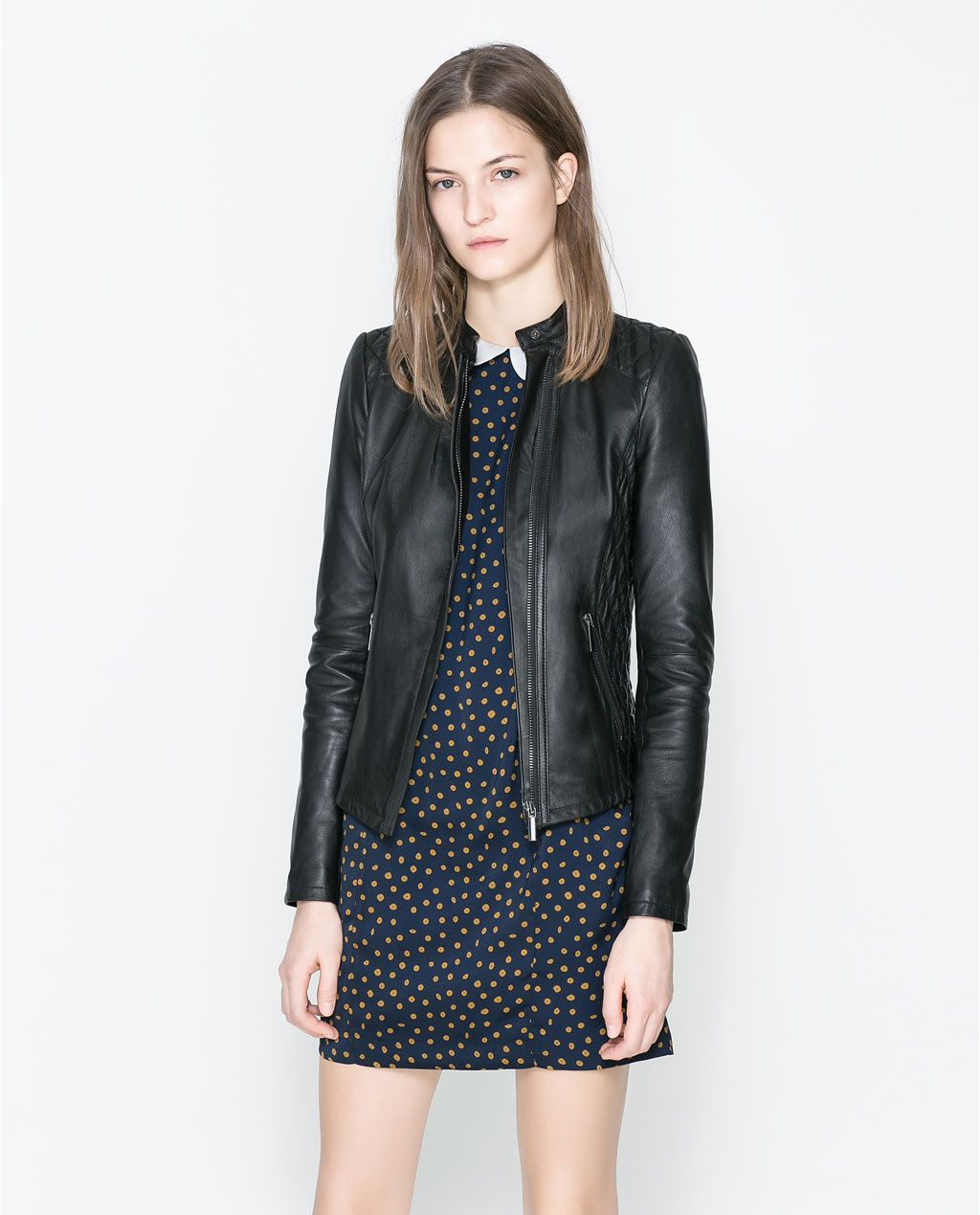 Quilted Blazers: QUILTED LEATHER JACKET From Zara
