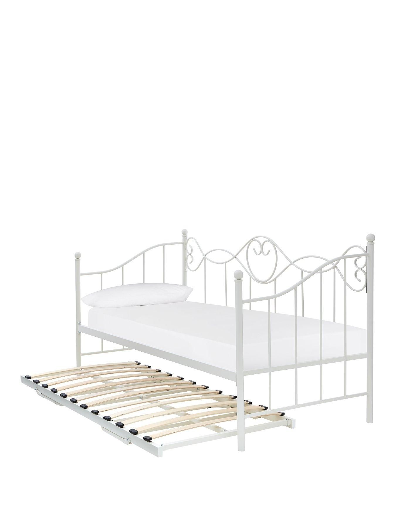 Juliette Metal Day Bed And Trundle Bed With Mattress Options Buy
