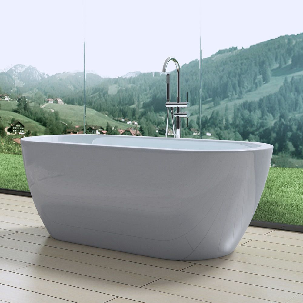 1800mm Modern Curved Double Ended Freestanding Bath Tub ...