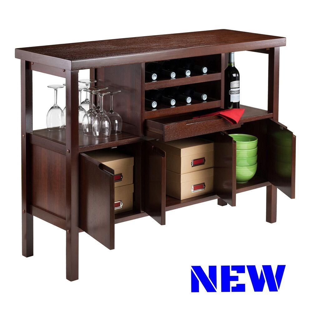 Classic Buffet Cabinet Wine Rack Table Bottle Holder Display Storage Sideboard Unbranded Contemporary In 2020 Sideboard Storage Wine Rack Table Elegant Furniture