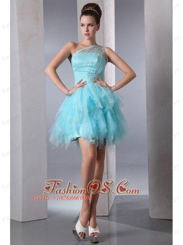 One Shoulder Short Prom Dress - Ocodea.com