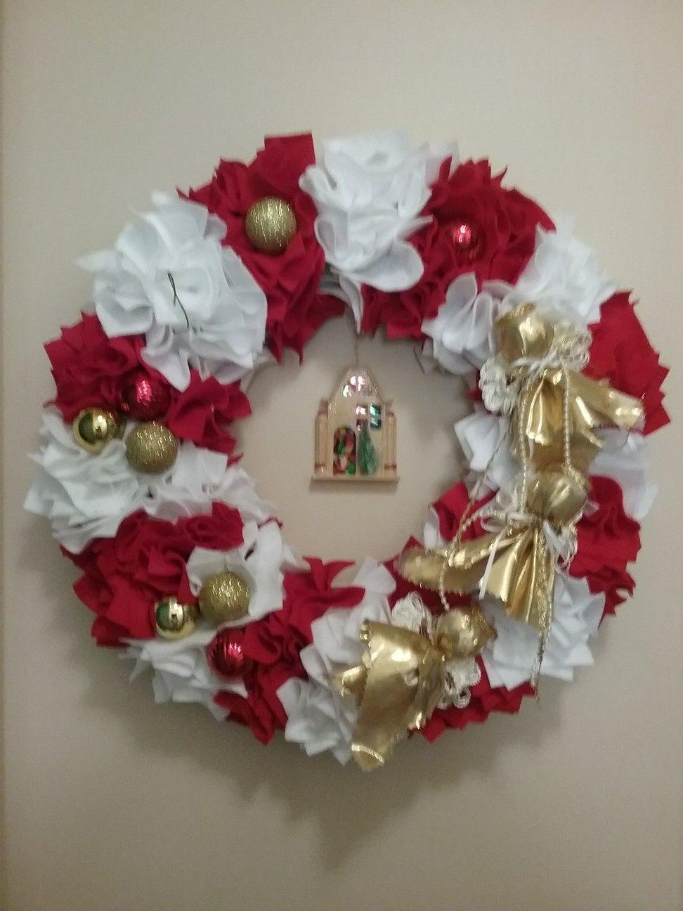 Felt wreath on Styrofoam. Wreaths, Ornament wreath, Felt
