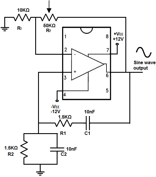 wien bridge oscillator circuit built with an lm741 youknow