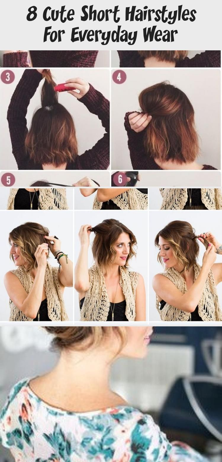8 Cute Short Hairstyles For Everyday Wear Cute Hairstyles For Short Hair Short Hair Styles Hair Styles