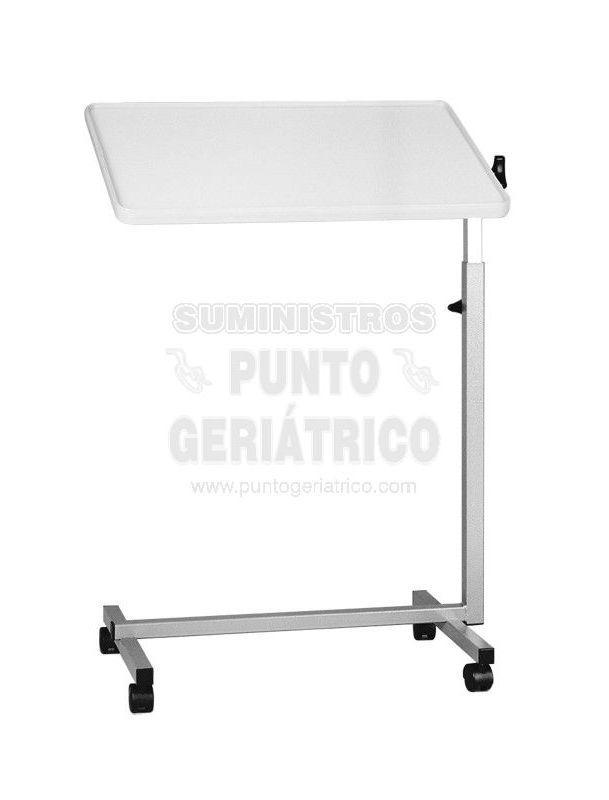 Mesa graduable en altura e inclinación ideal para dar de comer o actividades para uso en sillas de ruedas y cama.