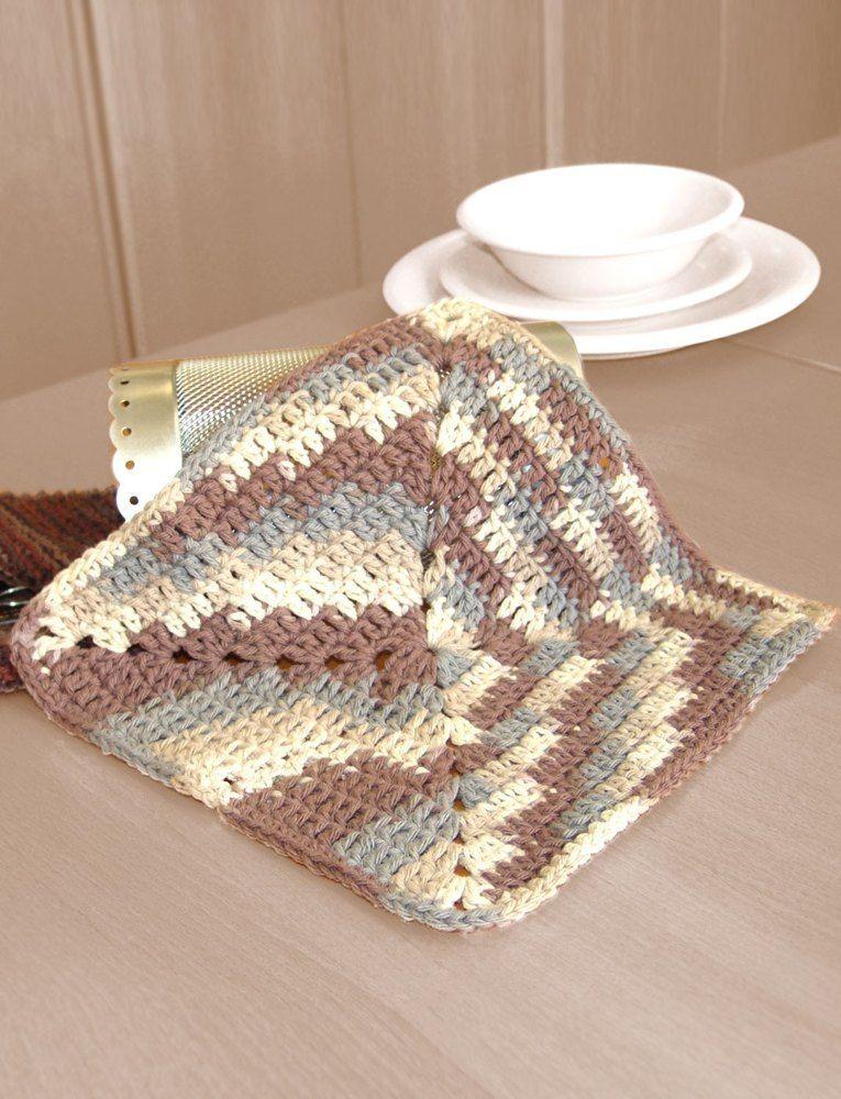Granny Dishcloth in Bernat Handicrafter Cotton Prints. Discover more ...