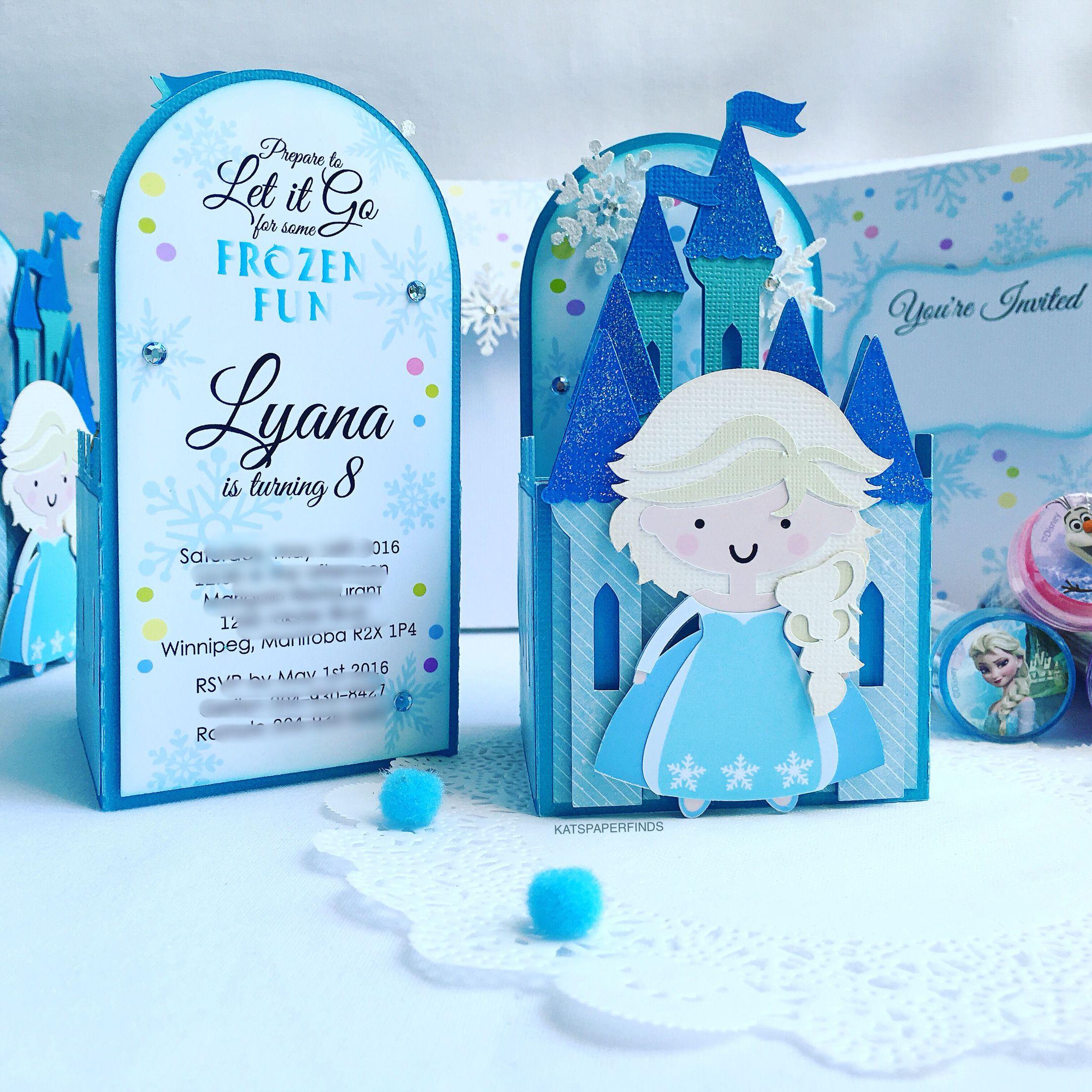 ❄️Frozen❄️ themed castle box invitations for Lyana's 8th birthday!