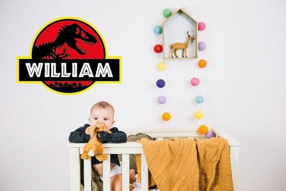 Jurassic Park Decal Personalized Jurassic Park Wall Decal Jurassic Park Wall Logo Dinosaur nursery Wall Mural #dinosaurnursery Jurassic Park Decal Personalized Jurassic Park Wall Decal Jurassic Park Wall Logo Dinosaur nursery W #dinosaurnursery