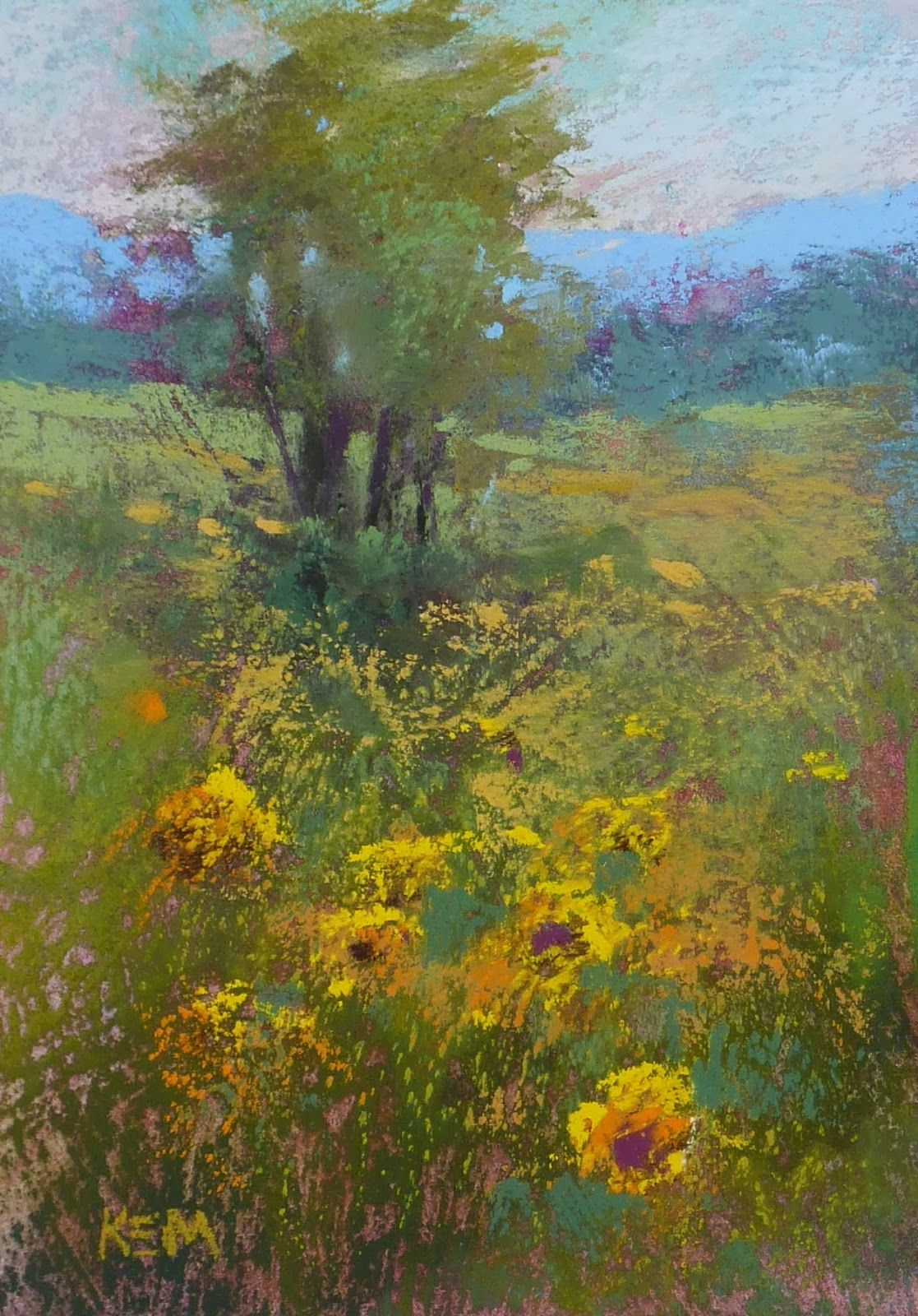 The Most Important Thing About Creating Depth In A Landscape Painting Landscape Paintings Original Art Painting Pastel Landscape