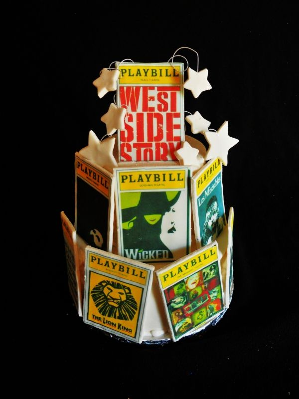 Great Idea For Musical Theater Retirement Cake Playbills