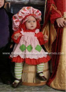 Cute Strawberry Shortcake Costume for a Girl