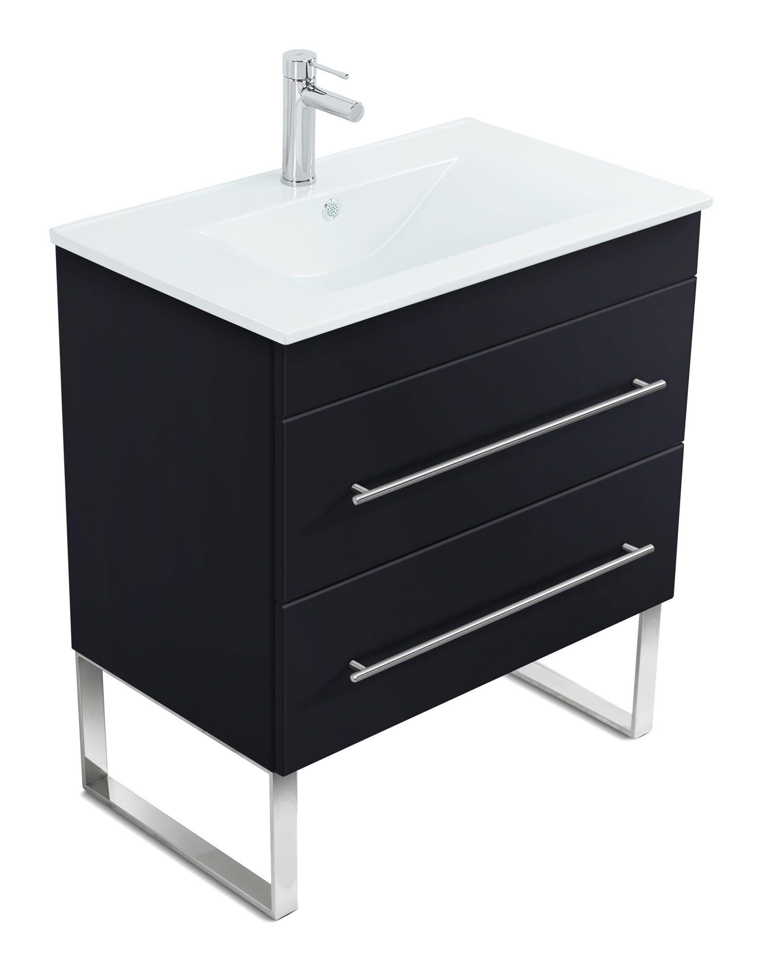 Stand Badmobel Casa Infinity 750 Schwarz Seidenglanz In 2020 Unterschrank Badunterschrank Waschtischunterschrank