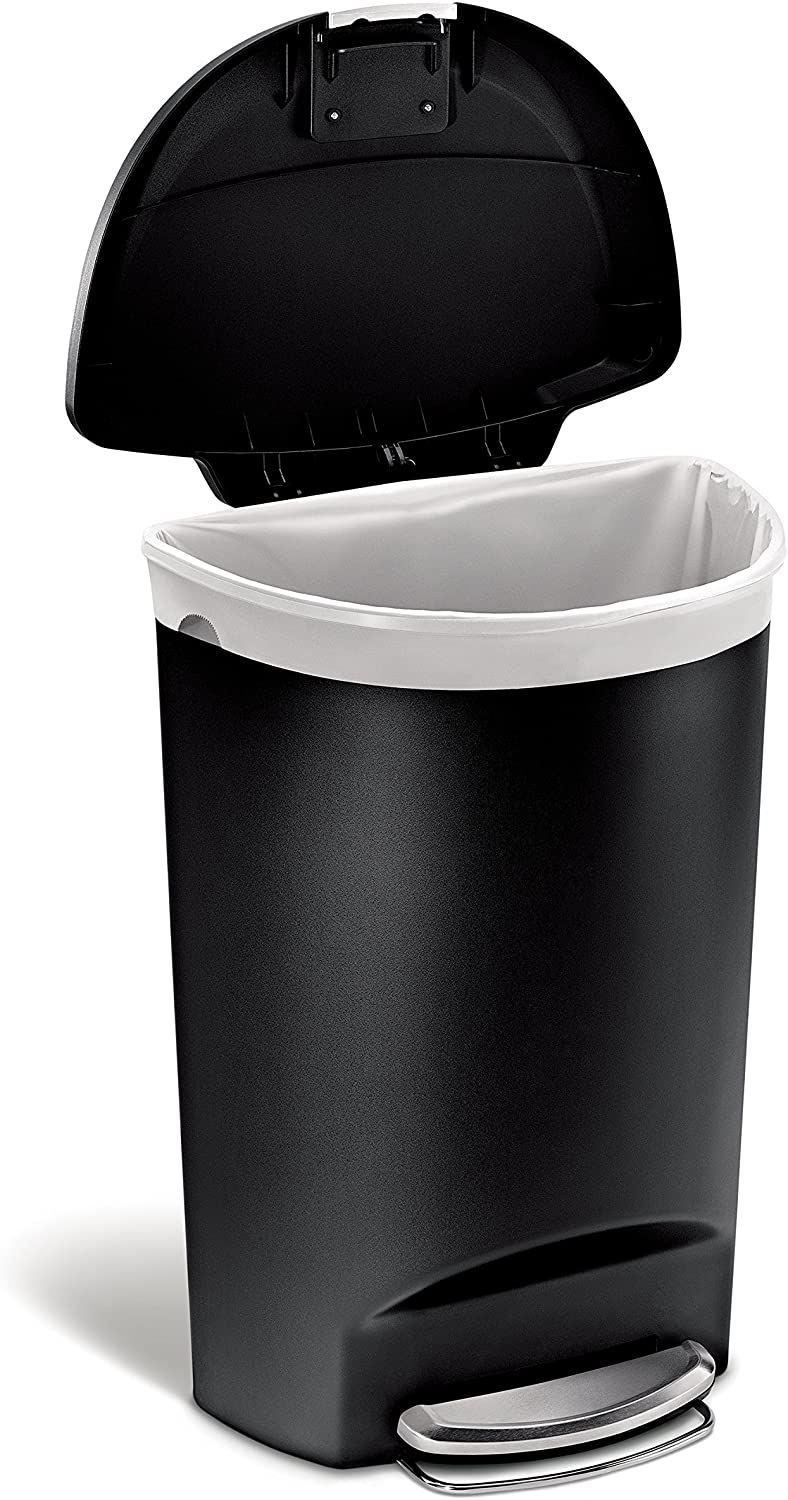 Price 49 90 Best Simplehuman 50 Liter 13 Gallon Semi Round Kitchen Step Trash Can Dog Proof Trash Can Trash Can Simplehuman Simple human trash can 13 gallon