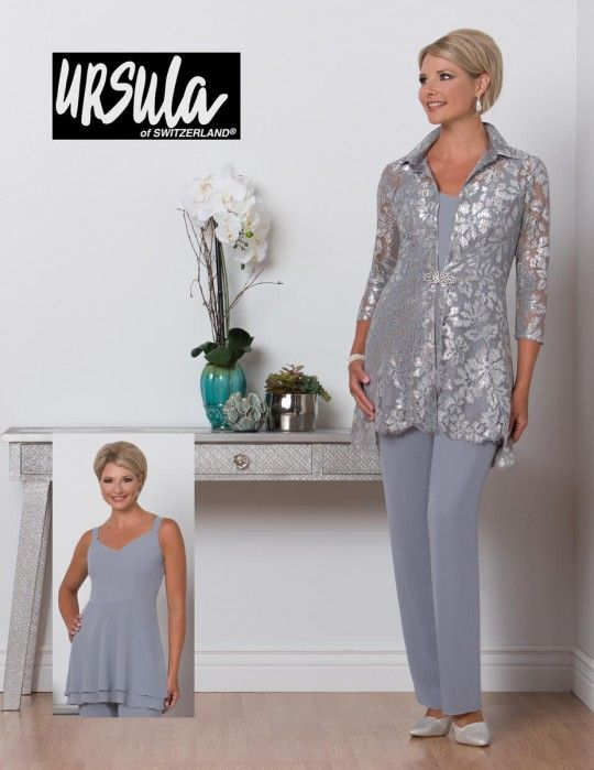 Ursula 41480 Plus Size Mother Of Bride Pant Suit In 2019 Sara S