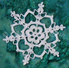Irish Hearts Snowflake free crochet pattern - Free Crochet Snowflake Patterns - The Lavender Chair