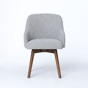 West Elm Saddle Office Chair Painted Stripe Gray Ivory Saddle Office Chair Desk Chair Comfy Modern Office Chair