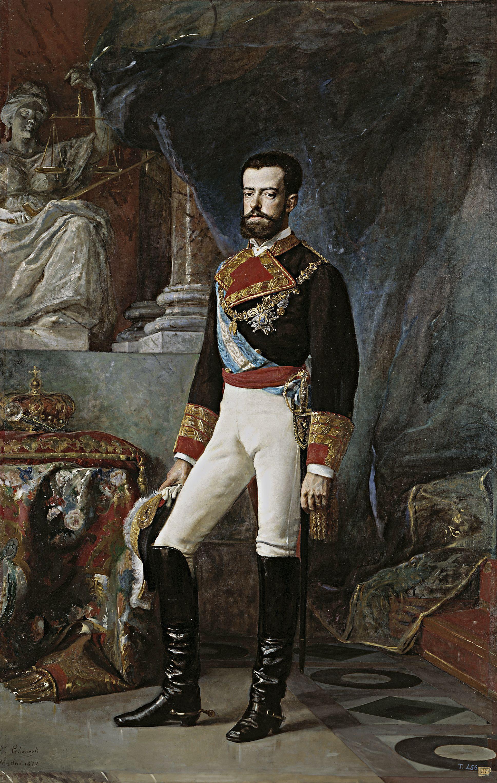 Vicente Palmaroli Y González Amadeo I De Saboya 1872 Museo Del Prado El Rey Caballero O El Electo 1 España Historia De España Museo Nacional Del Prado