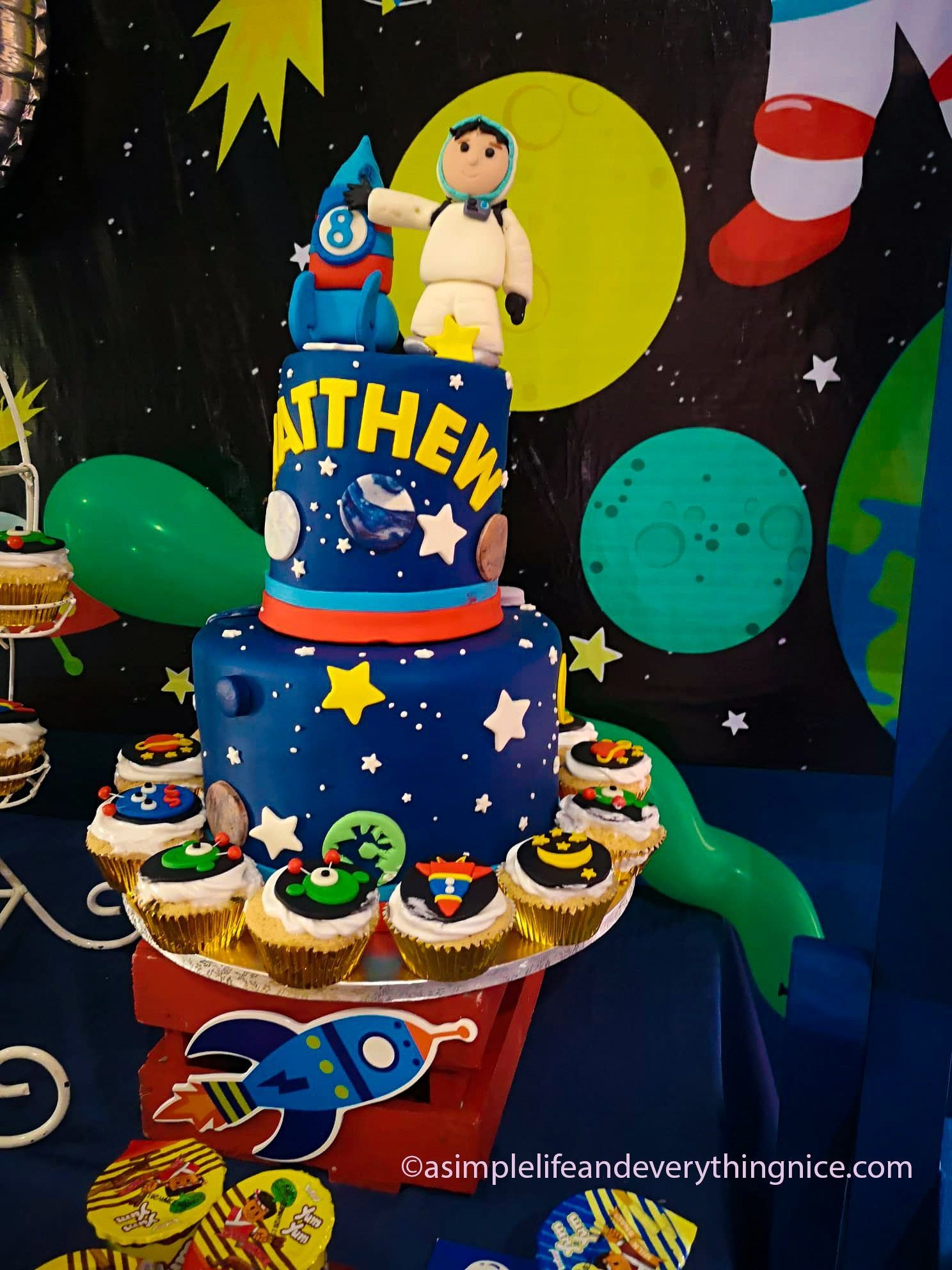 A Space Themed Birthday Party : Matthew's Outer Space 8th Birthday Party with Free Printables - A Simple Life and Everything Nice #outerspaceparty A Space Themed Birthday Party : Matthew's Outer Space 8th Birthday Party with Free Printables - A Simple Life and Everything Nice #outerspaceparty