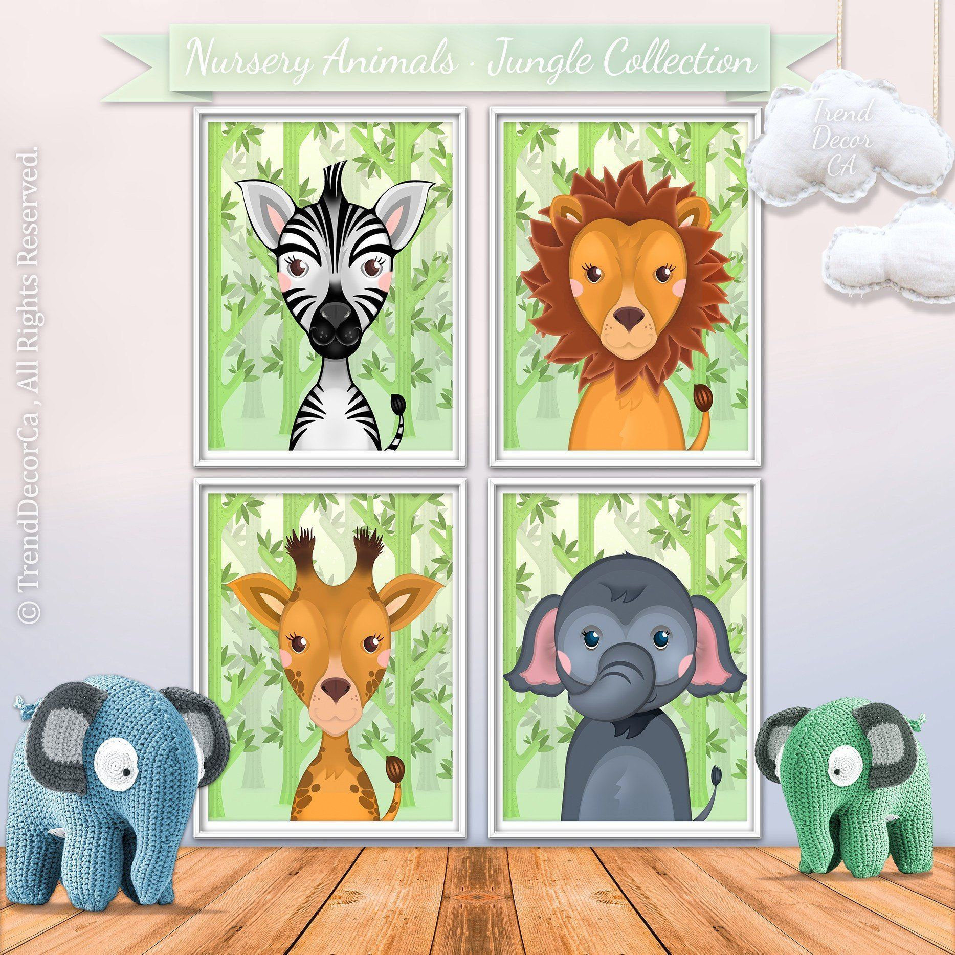 Cute Jungle Baby Giraffe Print, Animal Nursery Printable ...