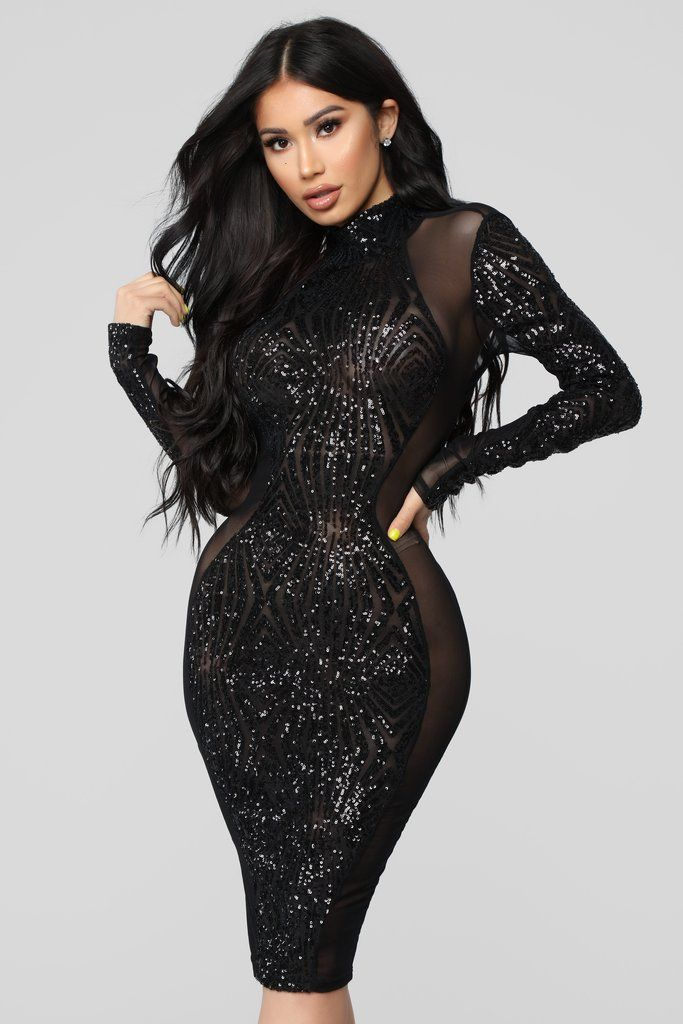Black sheer strappy textured glitter bodycon dress exercise vintage