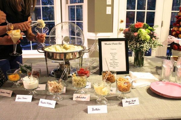 Mashed Potato Wedding Food Bar