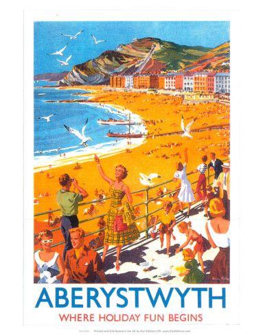 Vintage LMS Coney Beach Porthcawl Railway  Poster A3 Print