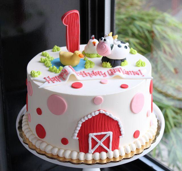 Swell Farm First Birthday Cake Farm Birthday Cakes Animal Birthday Funny Birthday Cards Online Alyptdamsfinfo