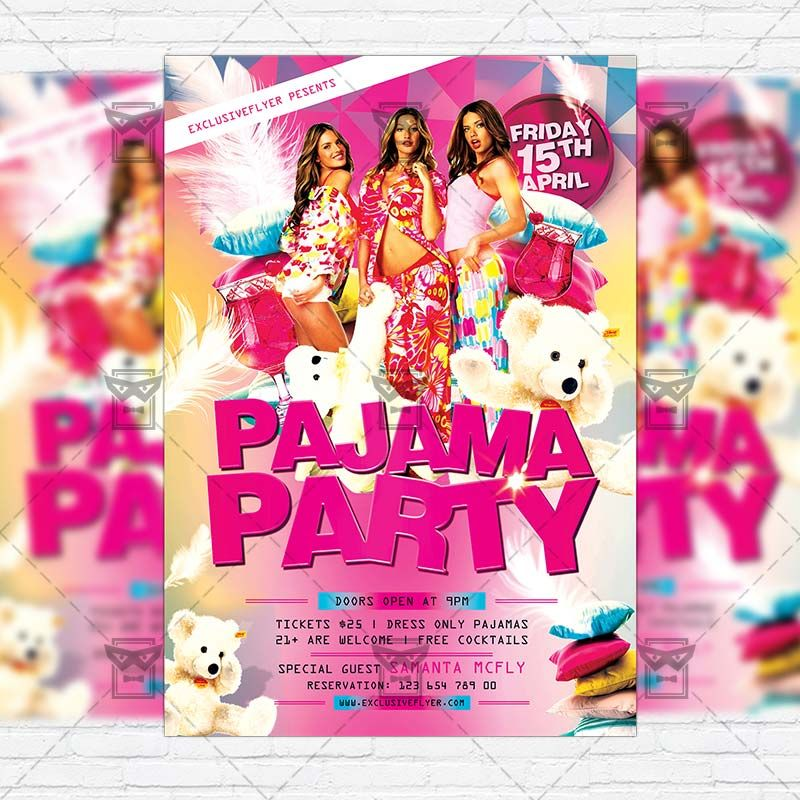 Pajama Party - Premium Flyer Template + Facebook Cover www - picnic flyer template