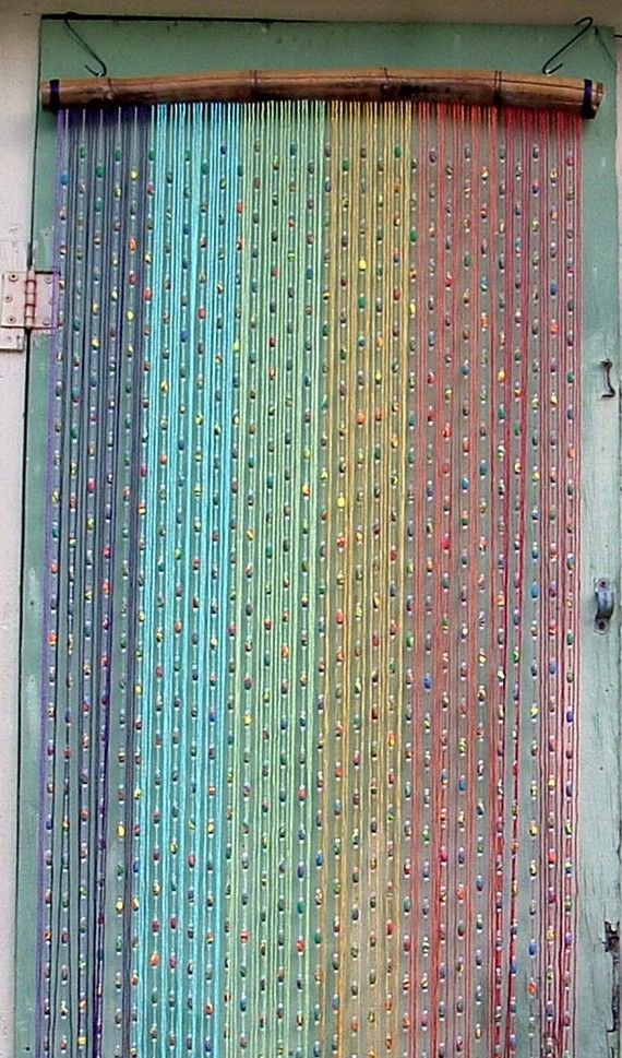Bunte Vorhänge This One Is Also Cool. #beads #beaded #curtain #rainbow #