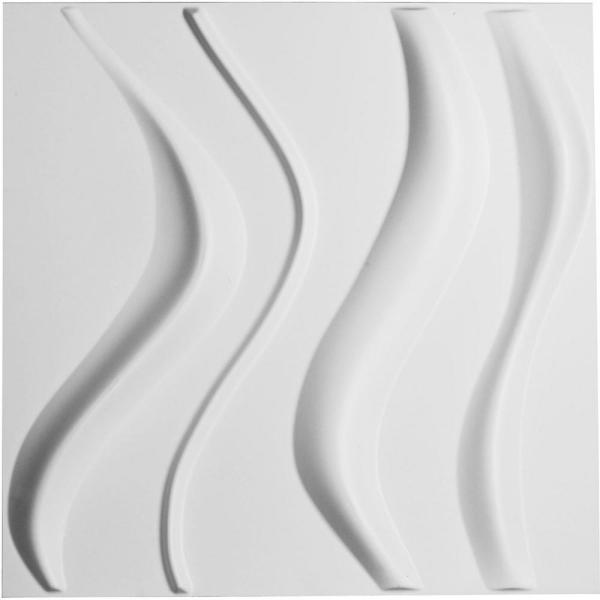 Ekena Millwork 1 In X 19 5 8 In X 19 5 8 In Pvc White Wave Endurawall Decorative 3d Wall Panel Wp20x20wvwh Pvc Wall Panels 3d Wall Panels Decorative Wall Panels
