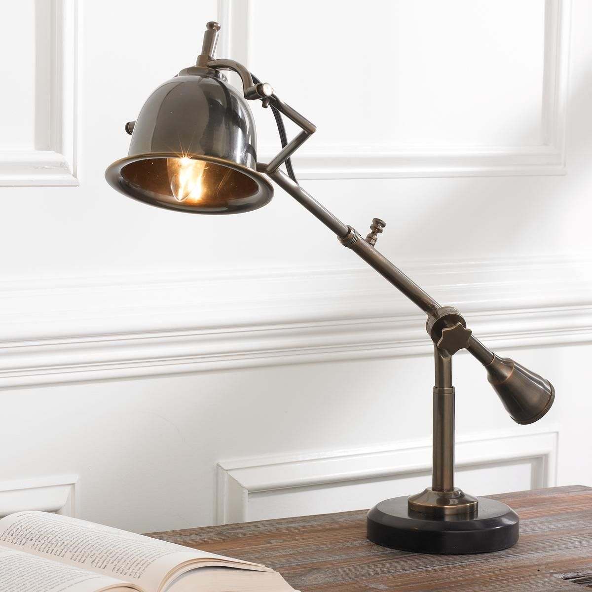 Industrial Counterweight Desk Lamp Designed From A Classic 1920 S