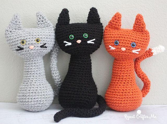 Gratis Haakpatroon Kat Diy Haken Pinterest Croché