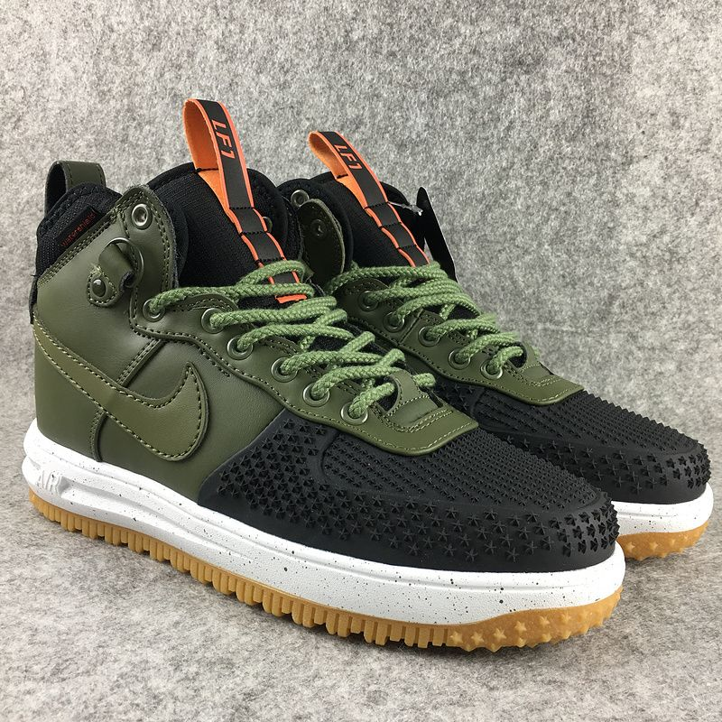 2018 Spring Fashion Nike Lunar Force 1 Duckboot High Black Green ... e9190740c