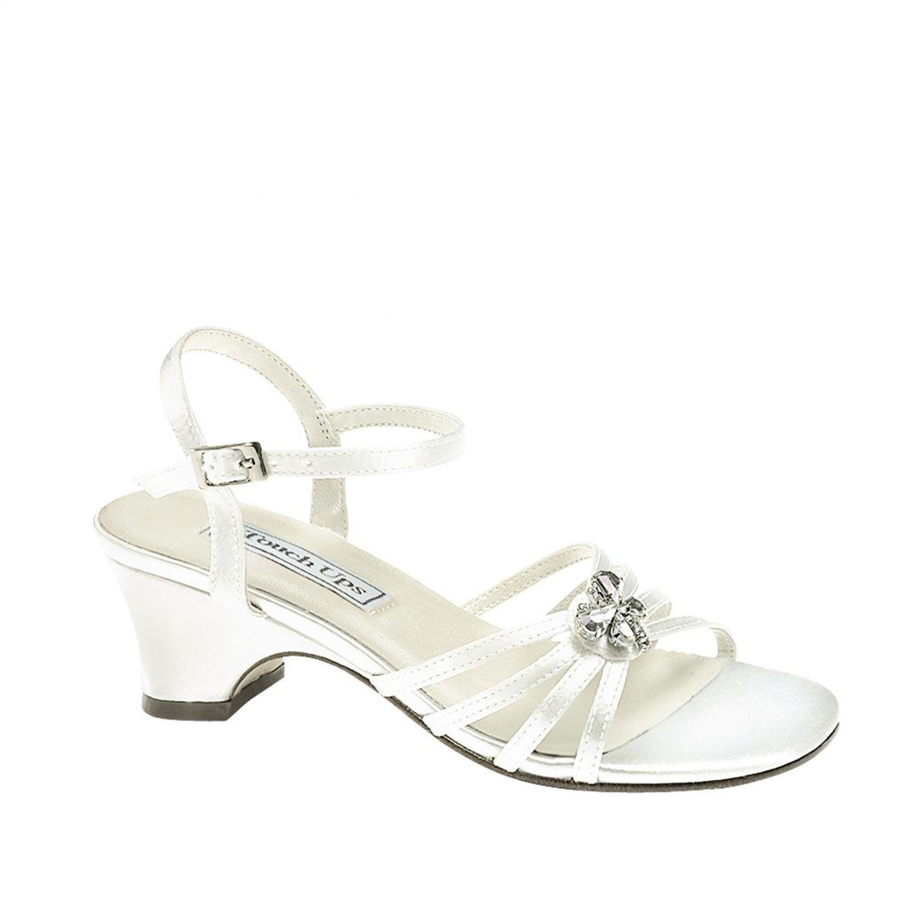 Touch Ups Betsy White Flower Girl Shoe Idea 114 Heel Dyeable