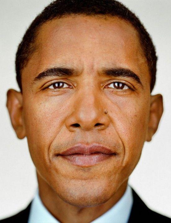 Martin Schoeller - President Obama  http://www.martinschoeller.com/