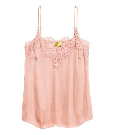 9b9fdb76ee73dc Satin Camisole Top with Lace