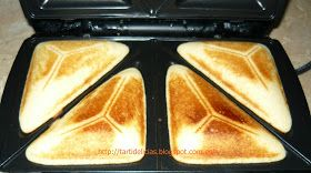 Tartidelicias: Bizcochitos hechos en sandwichera o gofrera