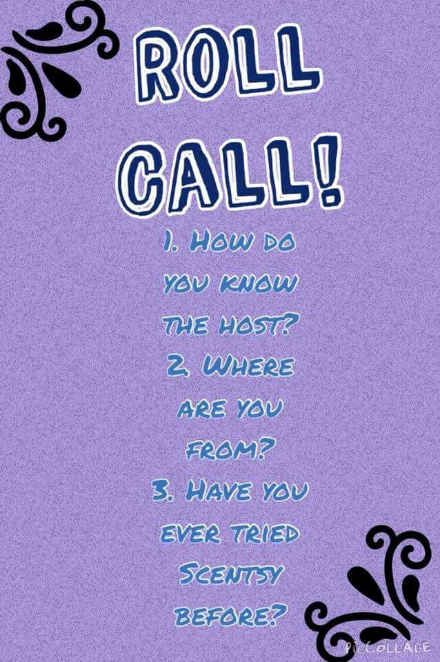 Roll Call In 2019 Scentsy Scentsy Games Role Call