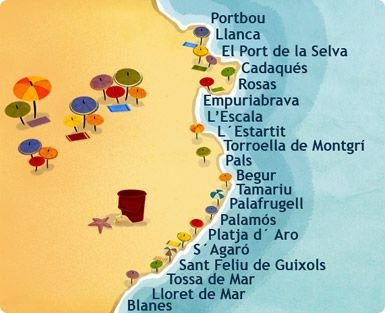 Costa Brava Espana Mapa.The Costa Brava Costa Brava Espana Cadaques Spain Playa