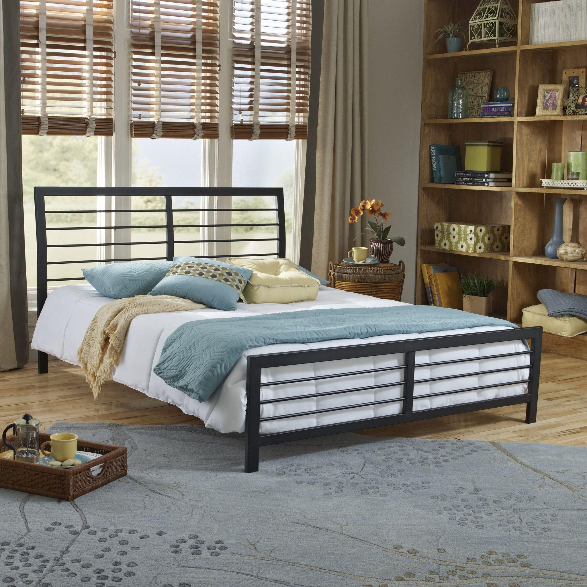 Fresh Wayfair Metal Beds Metal platform bed, Black twin