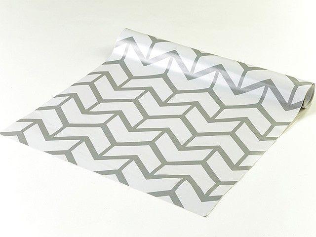 Papel de parede em tons cinza - Geometrico 20