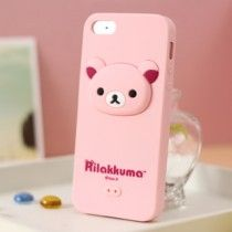 Rilakkuma Silicone iphone 5 case 3D Head Pink