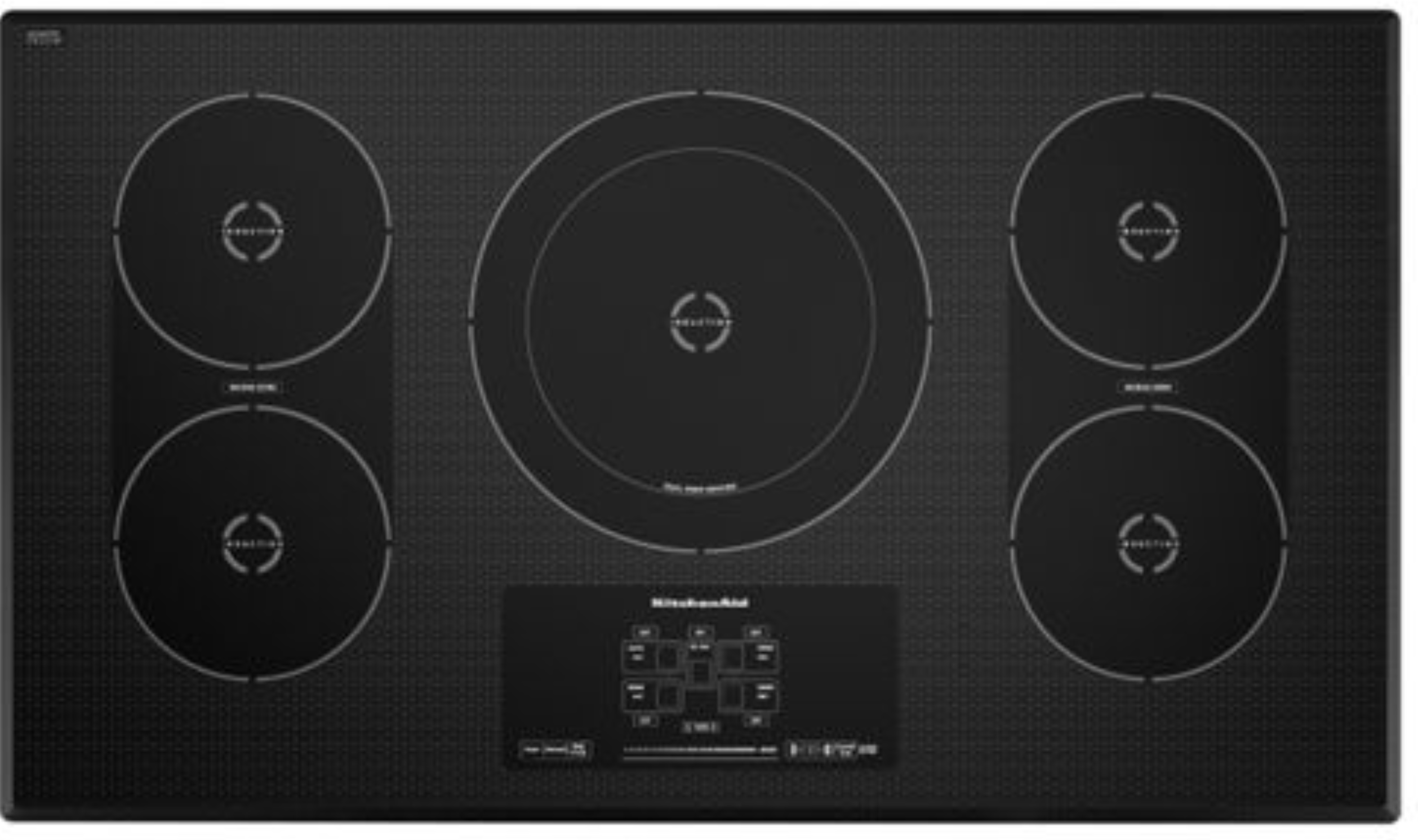 Black 36 Inch 5 Element Induction Cooktop Architect Series Ii Kicu569xbl Kitchenaid In 2020 Induction Cooktop Cool Things To Buy Kitchen Aid
