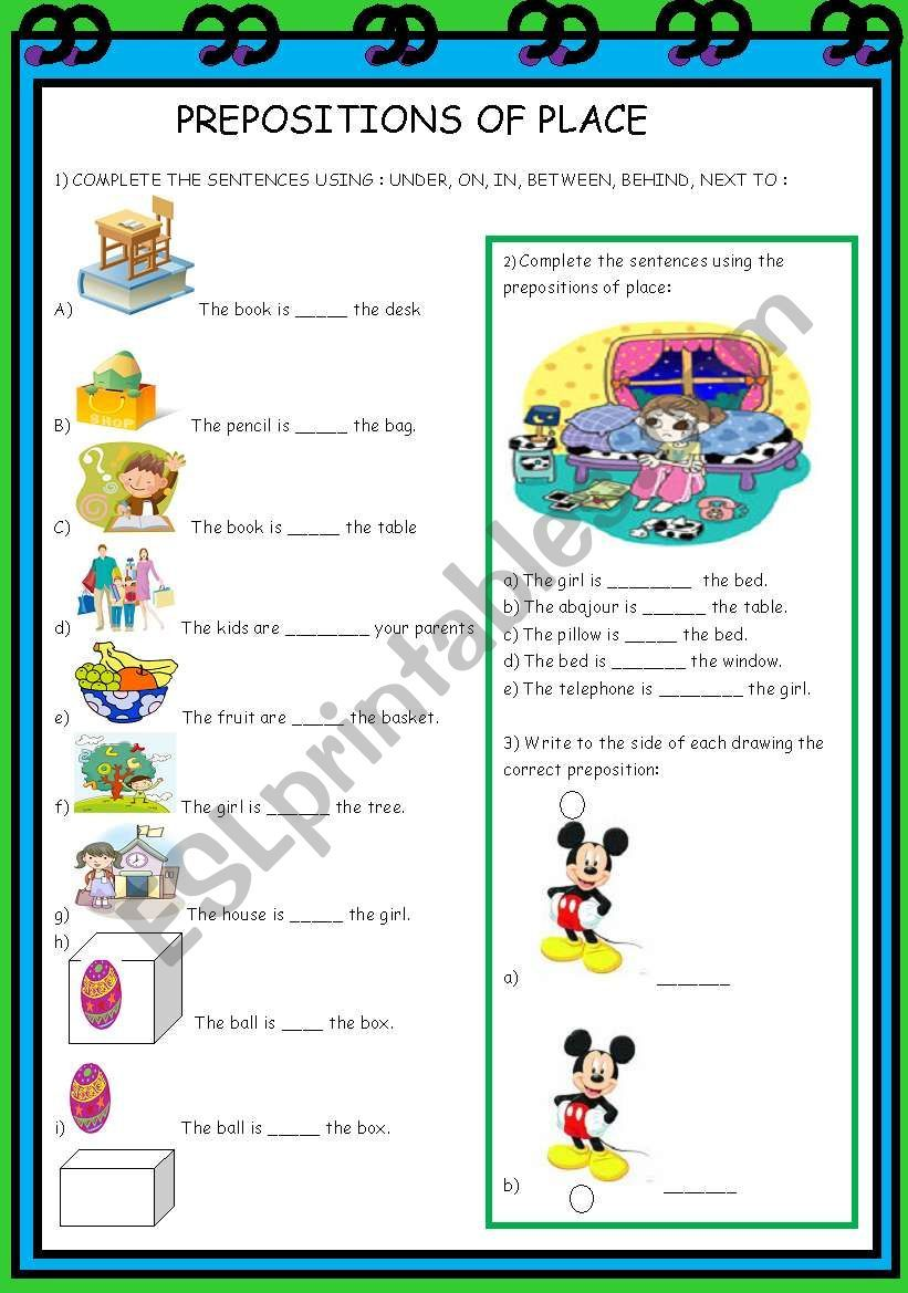 THIS IS A REVIEW ACTIVITY ABOUT PREPOSITIONS OF PLACE